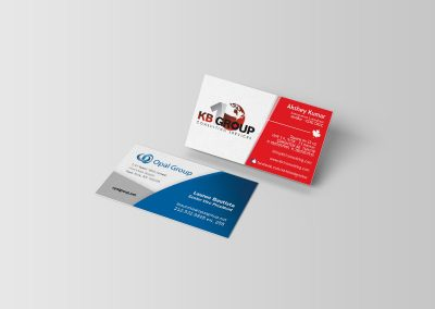 Opal Group and KB1 Consulting Group Business Cards