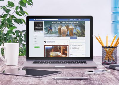 Facebook Page - Laptop View