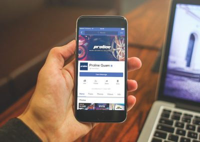 Facebook Page - Mobile View
