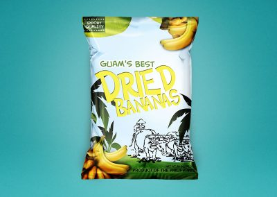 Dried Bananas Chips Packaging