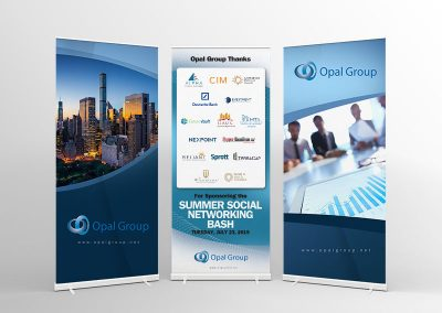 Roll up Banners for Opal Group